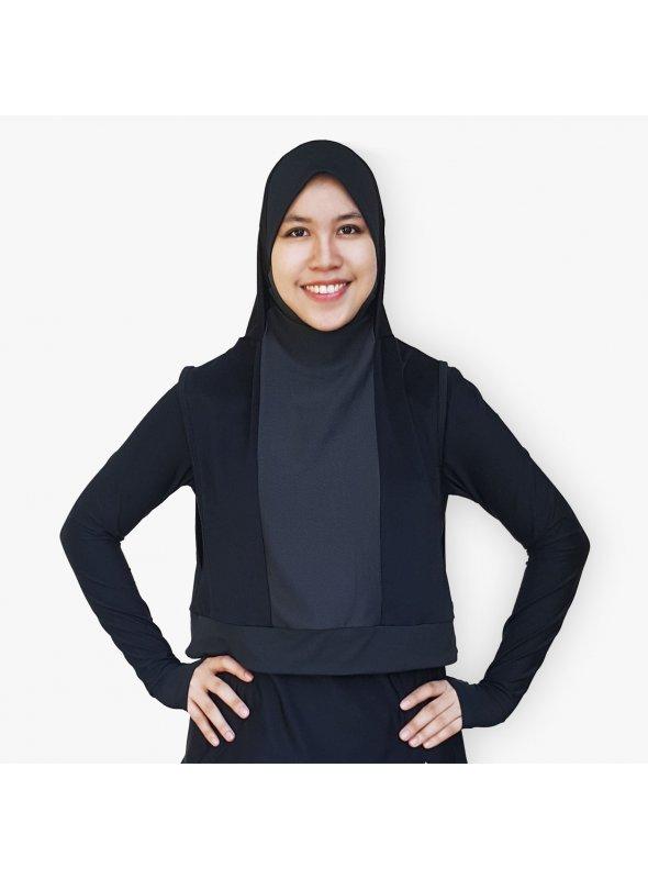 Hooda Hijab for Dry & Wet Use (with Zipper Pocket)