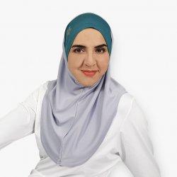 Iman  Sports Hijab - Grey