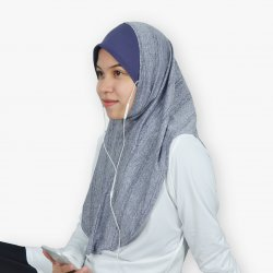 EZ Tunes Sports Hijab - Melange Grey