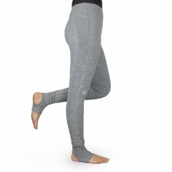 Leggings - Stirrup High Waist Melange Grey