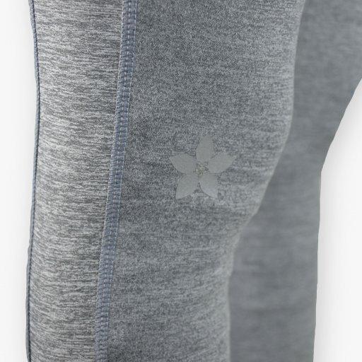 Leggings - Stirrup High Waist Melange Grey