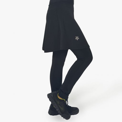 Black Skirt Compression Pants