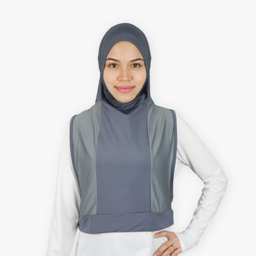 Hooda Hijab for Dry & Wet Use (with Zipper Pocket)