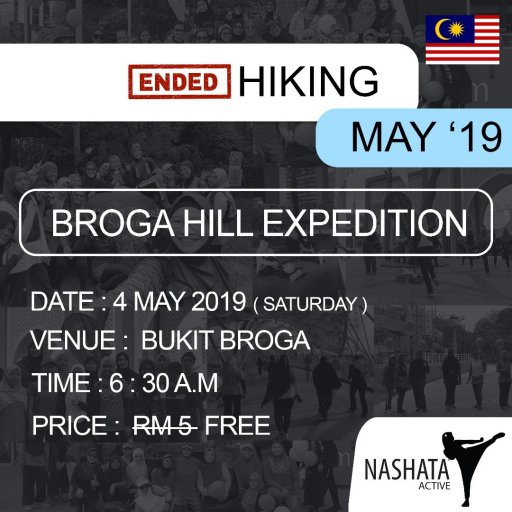 Hiking : Bukit Broga Expedition