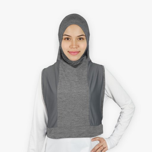 Tudung Sukan Hooda - Zip Poket (Kegunaan Basah&Kering)