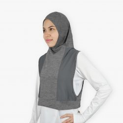 Hooda Hijab Melange Dry Use (with Zipper Pocket)