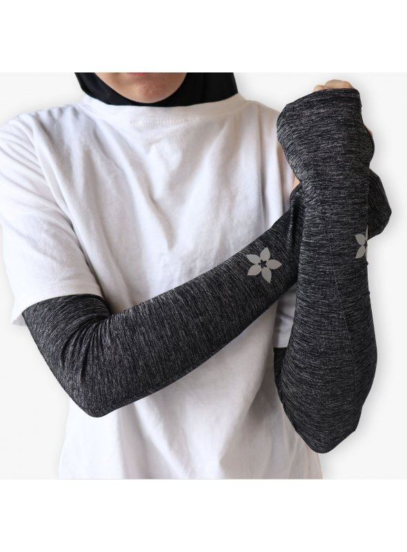 Sports Arm Sleeves  Melange (Black)