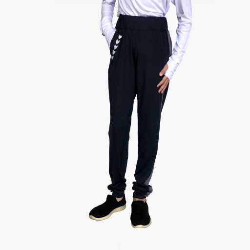 Riada Sweatpants Black and Grey Stripes