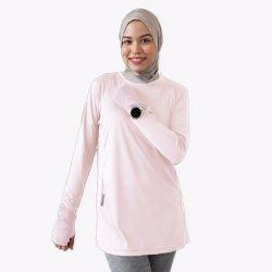 Baju Sukan Lengan Panjang Waqtoo (warna lembut)
