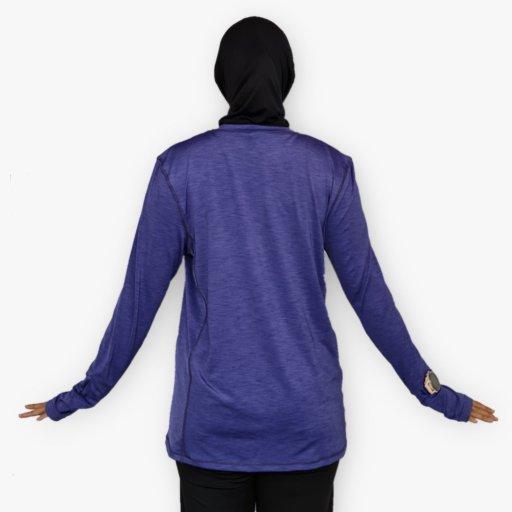Baju Sukan Lengan Panjang Waqtoo (kain melange)