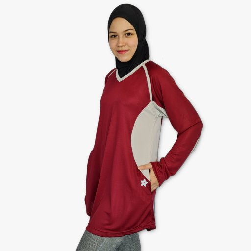 Peplum Sports Top with Zipper Pockets