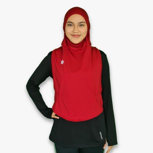 Hooda Ellipse I Sports Hijab (Berries Collection)