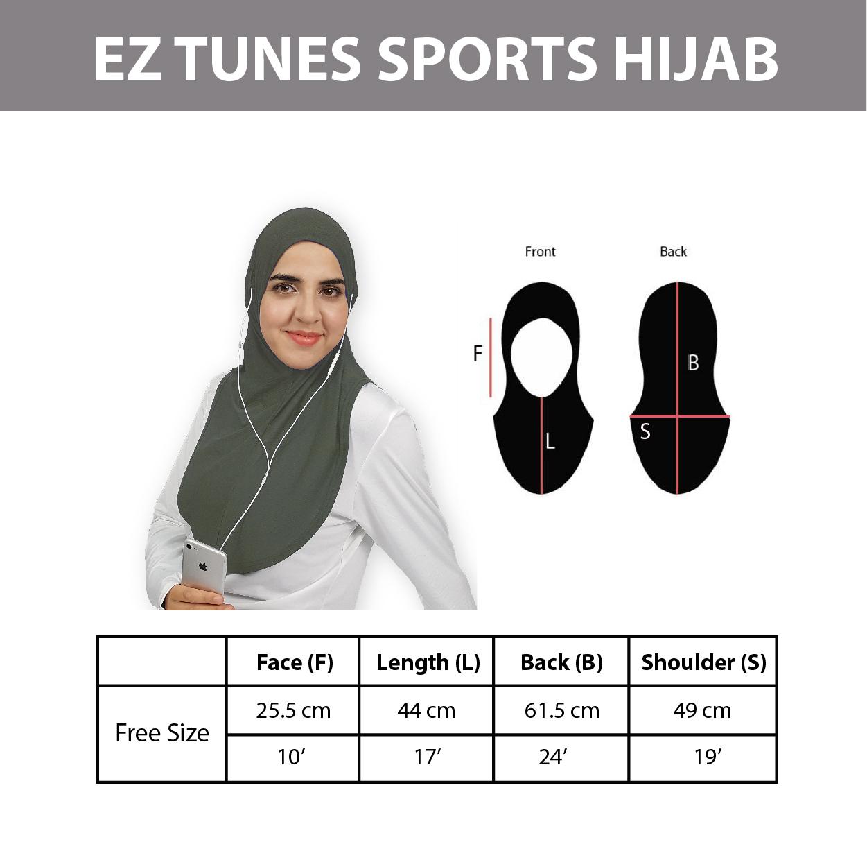 EZ Tunes Sports hijab
