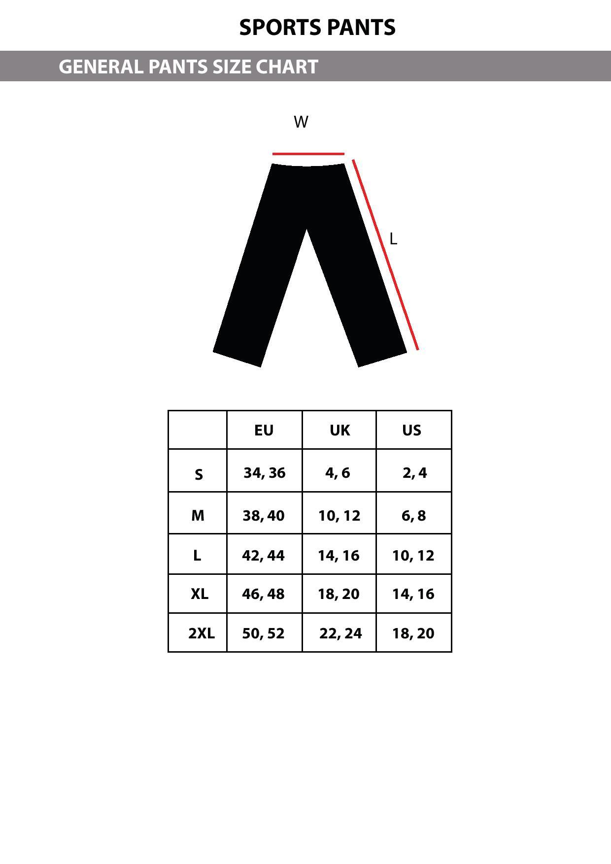 Pants Size Chart