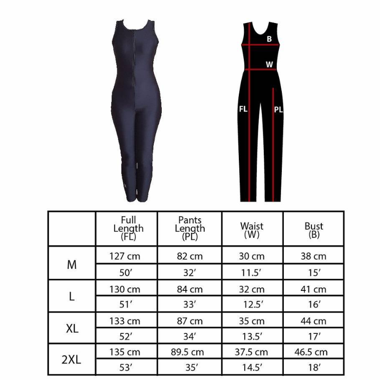 Body Suit Size Chart