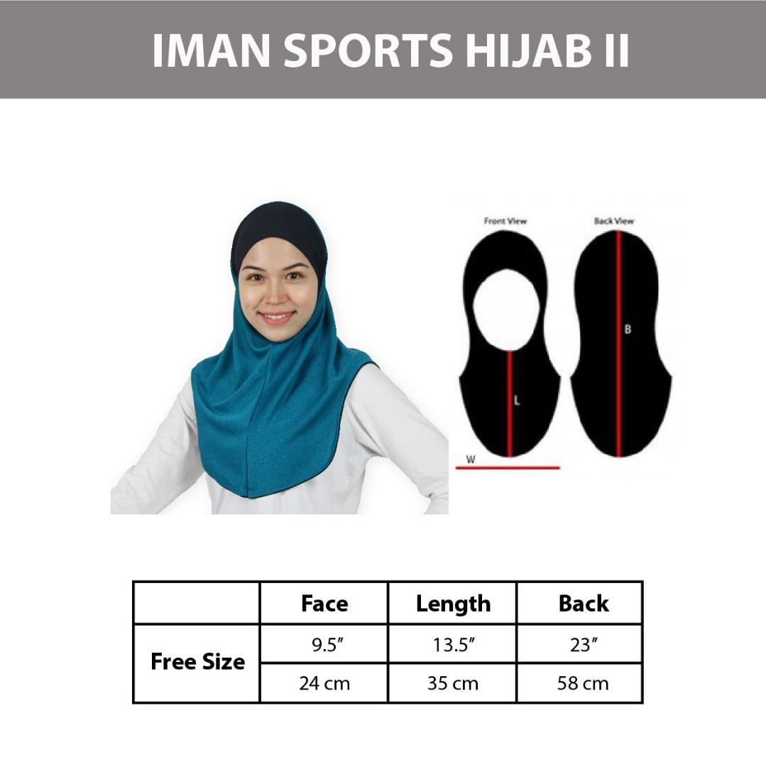 Sports Hijab Size Chart