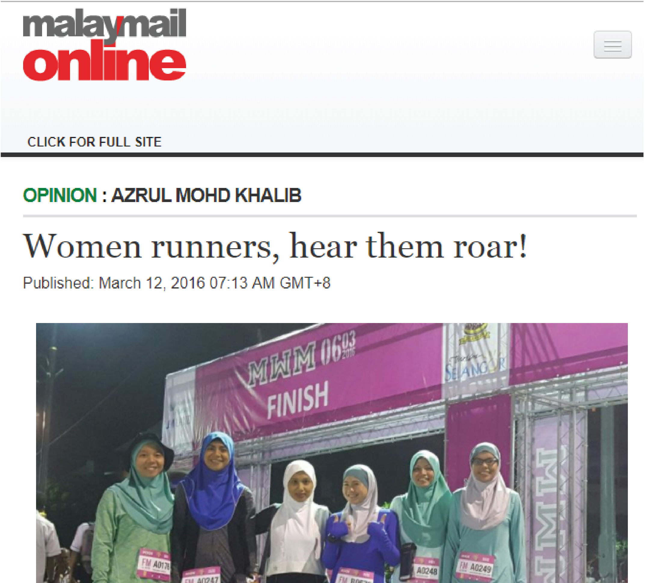 Women runners, hear them roar!