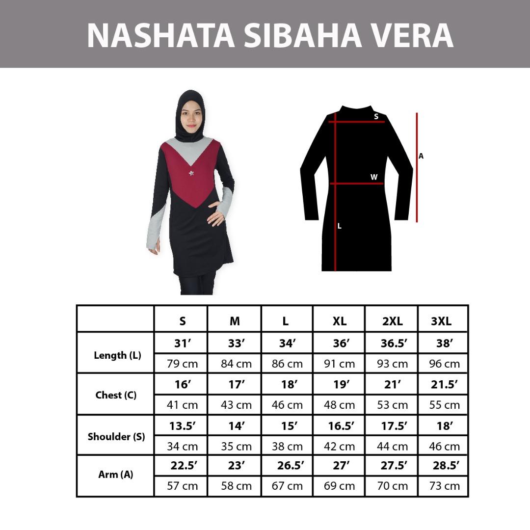 Sibaha Vera Size Chart